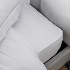 Sterling Home Savile Plain White Flat Sheet