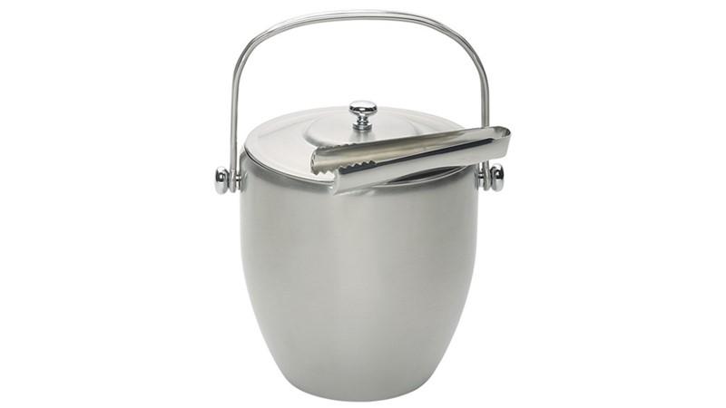 Stainless Steel Ice Bucket & Tongs