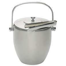 Stainless Steel Ice Bucket & Tongs