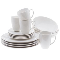 Maxwell & Williams White Basic Coupe 16 Piece Dinner Set