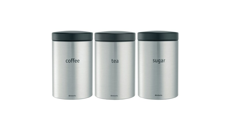 Brabantia Cannister Set- Matt Steel