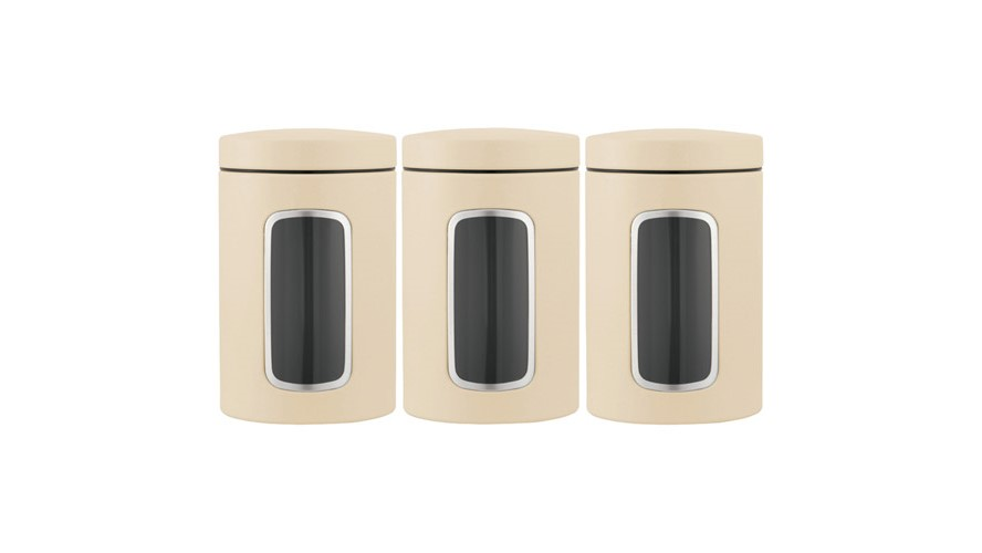 Brabantia Set of 3 Canisters - Almond