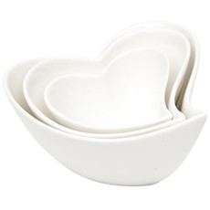 Maxwell & Williams White Basics Heart Sauce-Dipping Set of 3