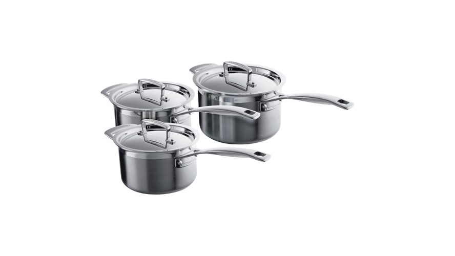 Le Creuset 3-Ply 3 Piece Pan Set