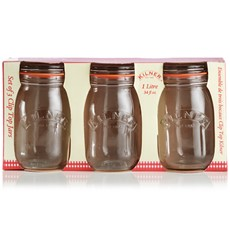 Kilner 1L Round Jars (Set of 3)