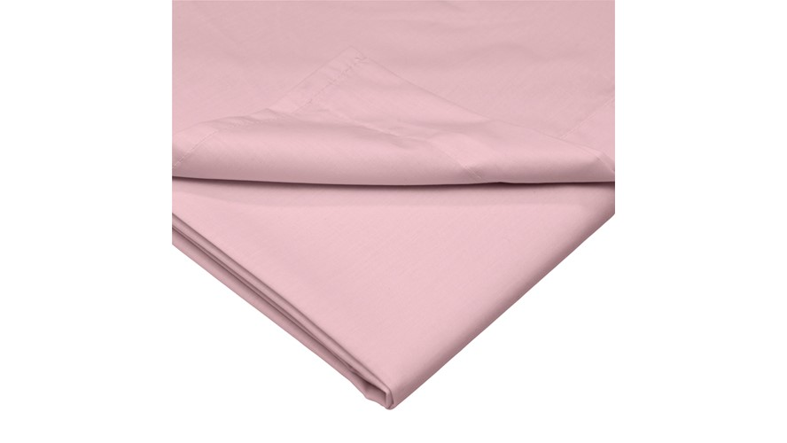 Percale 200 Housewife Pillowcase - Blush