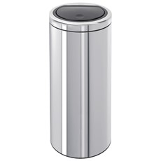 Brabantia Flat Top 30L Touch Bin - Brilliant Steel
