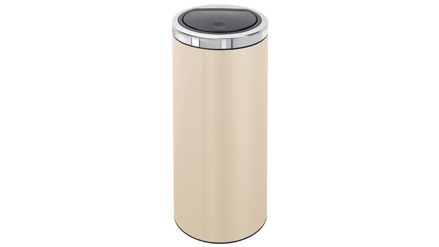 Brabantia Flat Top 30L Touch Bin - Almond