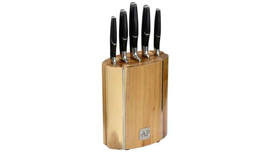 Arthur Price Kitchen 6 Piece Wooden Knife Block Set