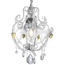Chandelier With Bows - Silver