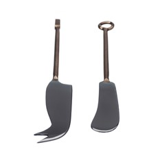 Just Slate Cheese Knife Set - Copper