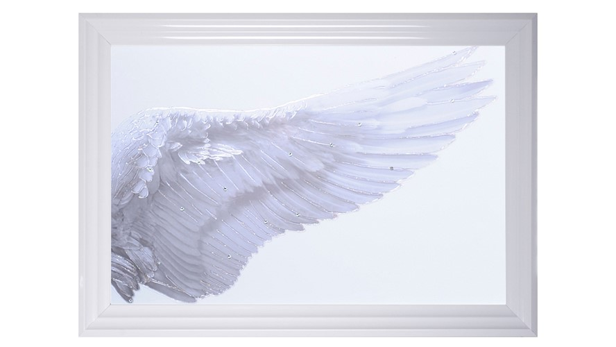 White Wings Right Wall Art