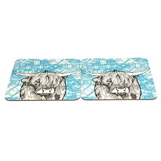 Highland Cow Tablemats Set