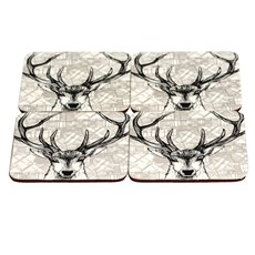 Stag Coasters - Set of 4
