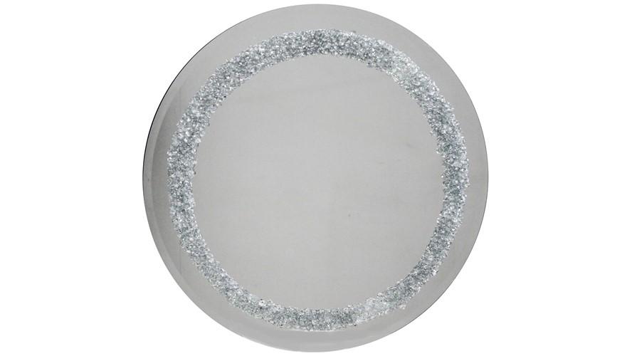 Round Solid Glitter Wall Mirror
