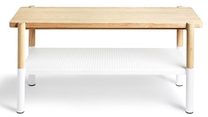 Umbra Promenade Bench - White & Natural