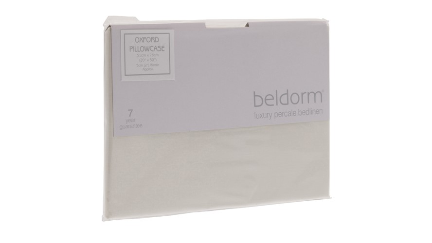Percale Pillowcase - Ivory
