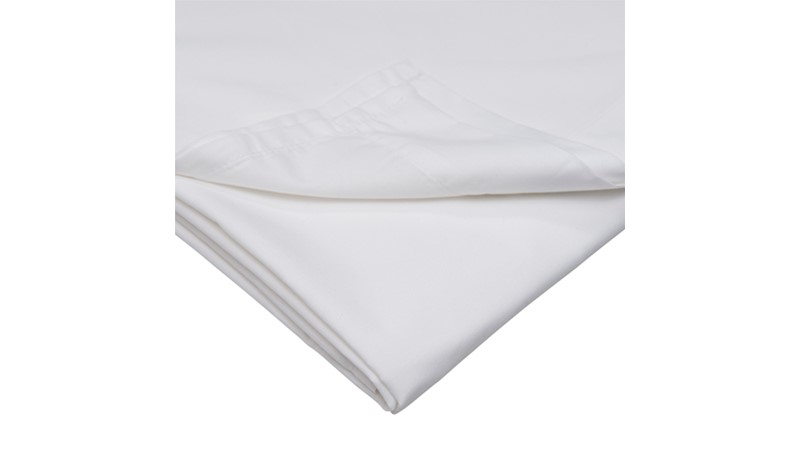 Percale 200 Extra Deep Fitted Sheet - White
