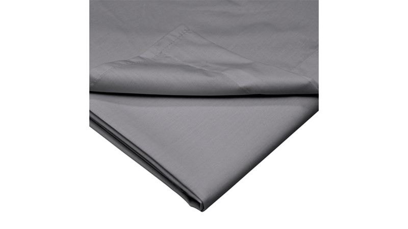 Percale 200 Fitted Sheet - Grey