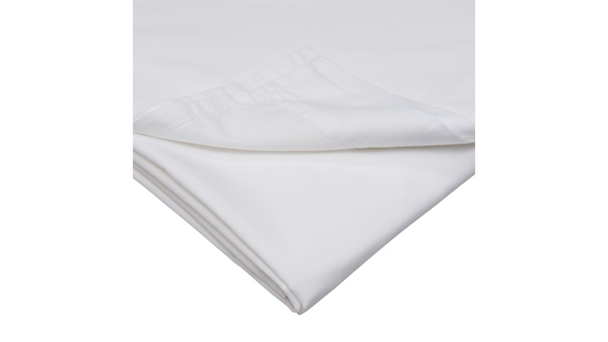 Percale 200 Fitted Valance - White