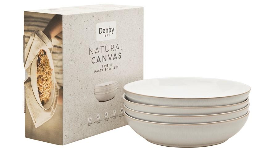 Denby Natural Canvas 4 Piece Pasta Bowl Set