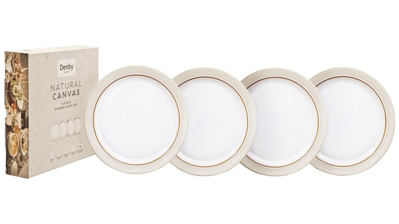 Denby Natural Canvas Dinner Plate Set - 4 Piece