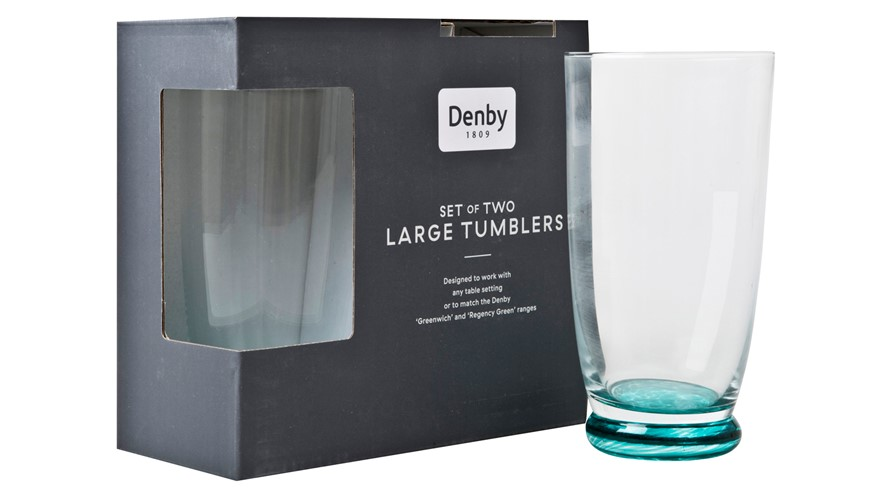 Denby Greenwich Large Tumbler - Set of 2