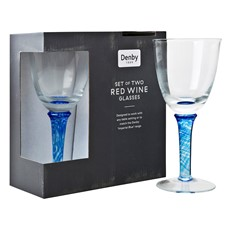 Denby Imperial Blue Red Wine Glass - Set of 2