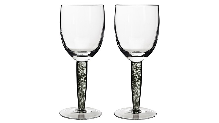 Denby Jet Denby Jet White Wine Glass - Set of 2