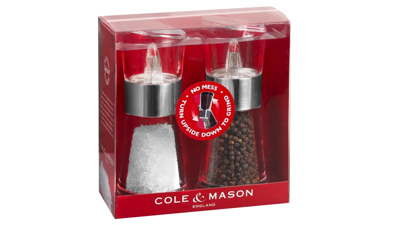 Cole & Mason Inverta Flip Mill Gift Set