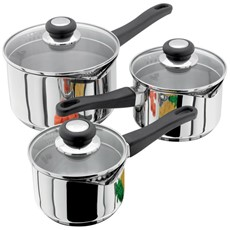 Judge Vista 3 Piece Draining Lid Pot Set