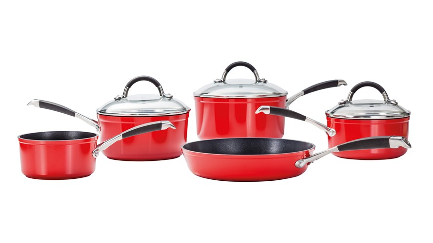 Stellar 3000 5 Piece Pot Set - Red