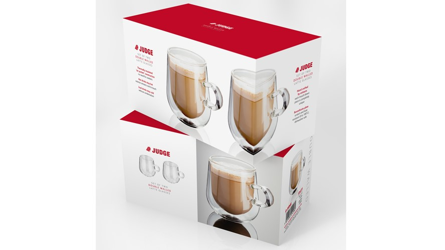 Judge Double Wall Latte Glass Set