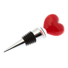 Just Slate Heart Wine Bottle Stopper