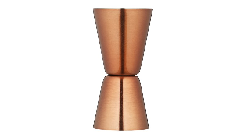 Kitchencraft Bar Craft Stainless Steel Dual Jigger - Copper Finish