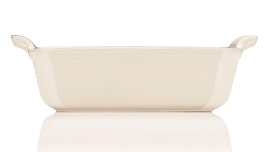 Le Creuset 25cm Deep Rectangular Dish - Almond