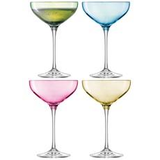 LSA Polka Champagne Saucers (Set of 4) - Pastel