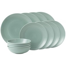 Gordon Ramsay Maze Teal 12 Piece Dinner Set