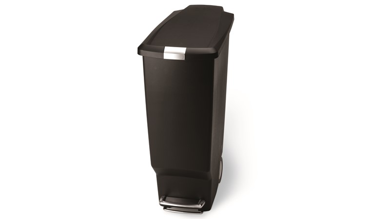 Slim Plastic 40L Bin - Black