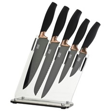 Taylor's Eye Witness Brooklyn Sloping 5 Piece Knife Block - Copper
