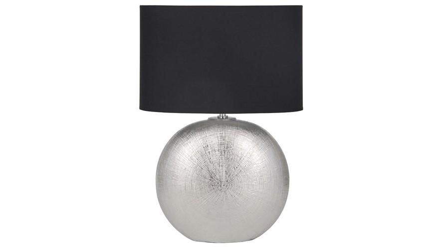 Silver & Black Shade Table Lamp