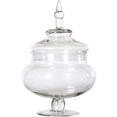 Glass Candy Jar With Lid - Large