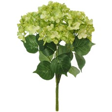 Silk Mophead Hydrangea Stem Bunch