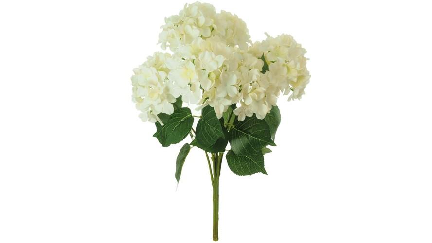 Silk Mophead Hydrangea Stem Bunch - Cream