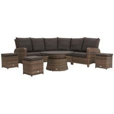Syracuse Garden Corner Lounge Dining Set