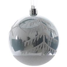 Shatterproof Glitter Trees Christmas Bauble - Blue