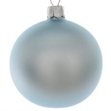 Matt Effect Glass Christmas Bauble - Blue