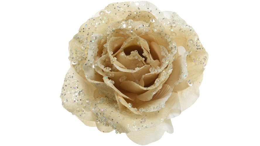 Glitter Rose On Clip Cream