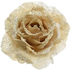 Glitter Rose On Clip Cream