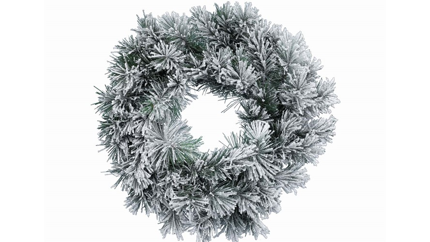 Snowy Vancouver Frosted Wreath
